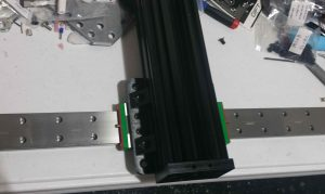 bolting up z axis to x axis